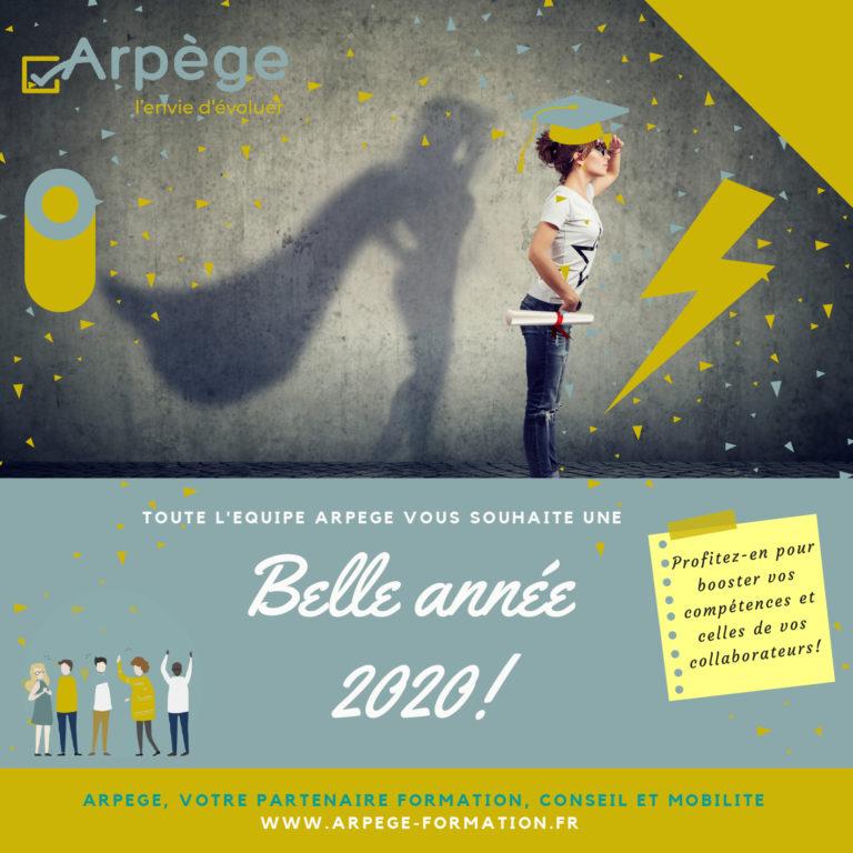 Arpège vous souhaite une bonne année 2020
